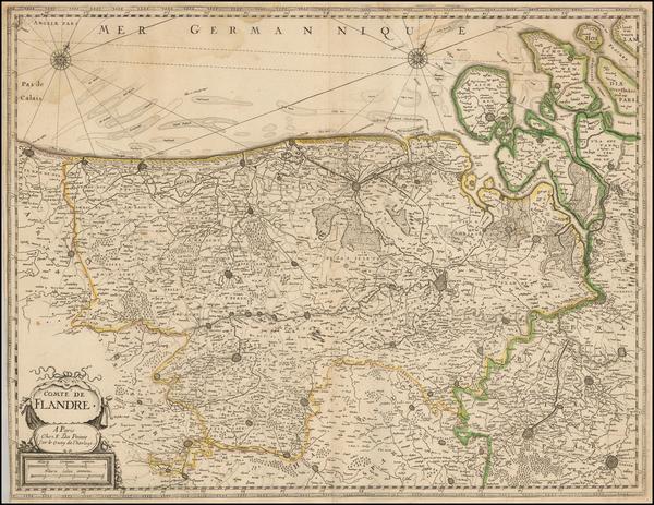 29-Belgium Map By F. dela Pointe