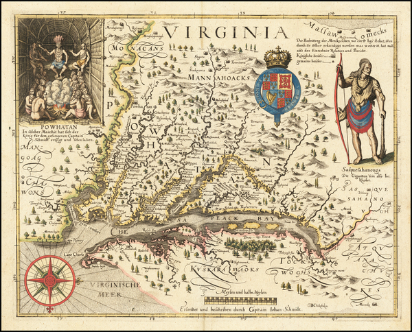 100-Mid-Atlantic, Maryland, Southeast and Virginia Map By John Smith