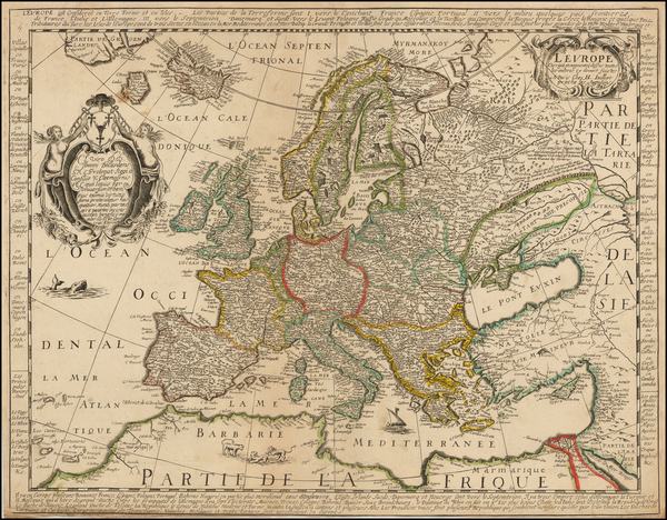 Europe and Europe Map By Alexis-Hubert Jaillot