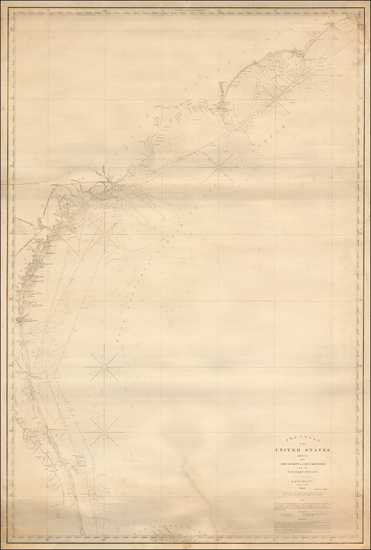 70-Florida and Southeast Map By E & GW Blunt