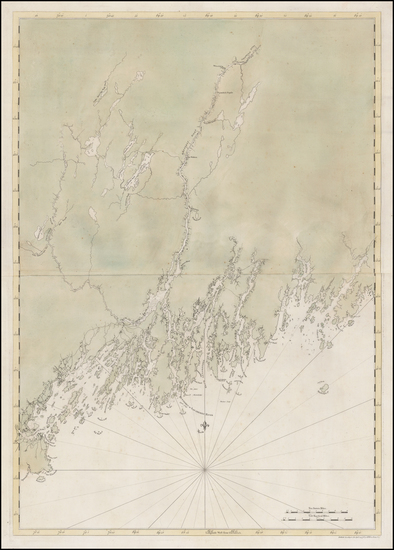 81-New England and Maine Map By Joseph Frederick Wallet Des Barres