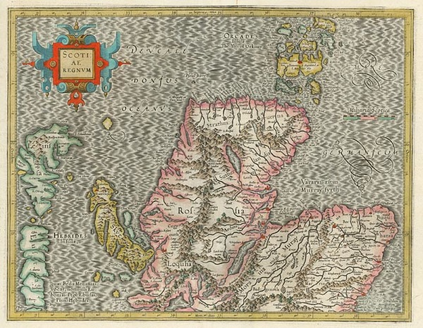 56-Scotland Map By Gerhard Mercator