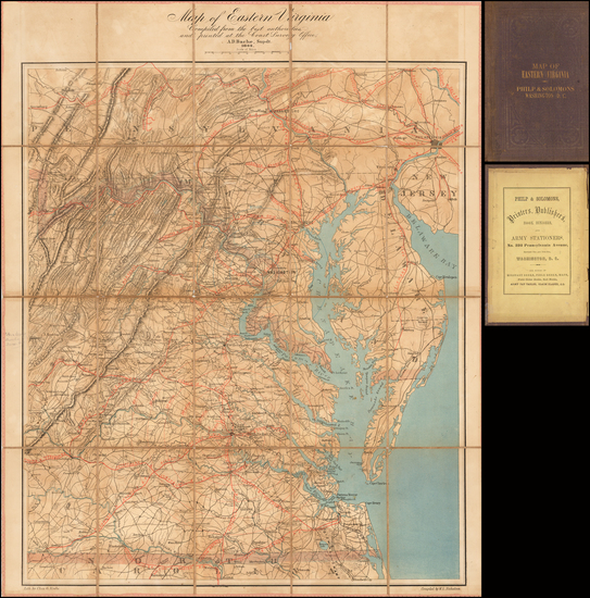 54-Washington, D.C., Maryland, Delaware, Southeast, Virginia and Civil War Map By Alexander Dallas
