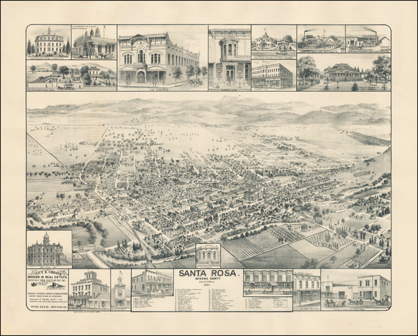 84-California and Other California Cities Map By W.W. Elliott & Co.