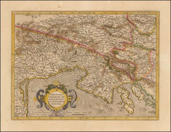 68-Croatia & Slovenia and Northern Italy Map By Gerhard Mercator
