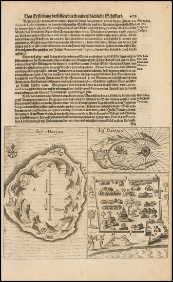 63-Other Islands Map By Theodor De Bry