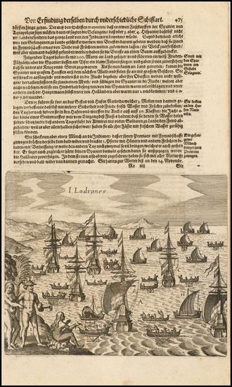 85-Oceania Map By Theodor De Bry / Matthaus Merian