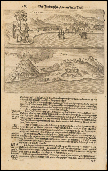 4-Indonesia Map By Theodor De Bry / Matthaus Merian