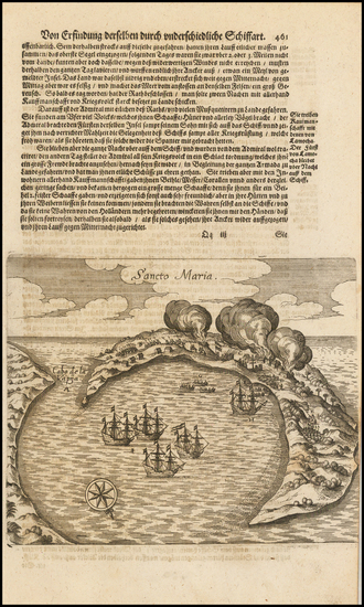 57-Chile Map By Theodor De Bry