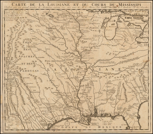 77-South, Southeast, Texas, Midwest, Plains, Southwest and Rocky Mountains Map By J.F. Bernard