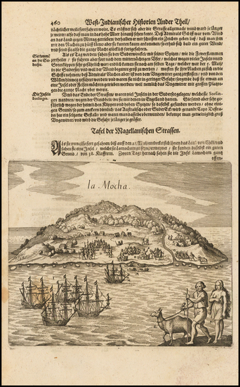 45-South America and Chile Map By Matthaus Merian