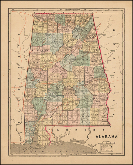 68-South and Alabama Map By Charles Morse