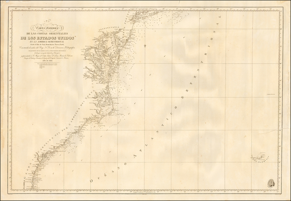 96-Mid-Atlantic and Southeast Map By Direccion Hidrografica de Madrid