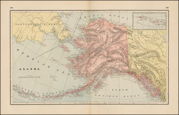 82-Alaska Map By George F. Cram