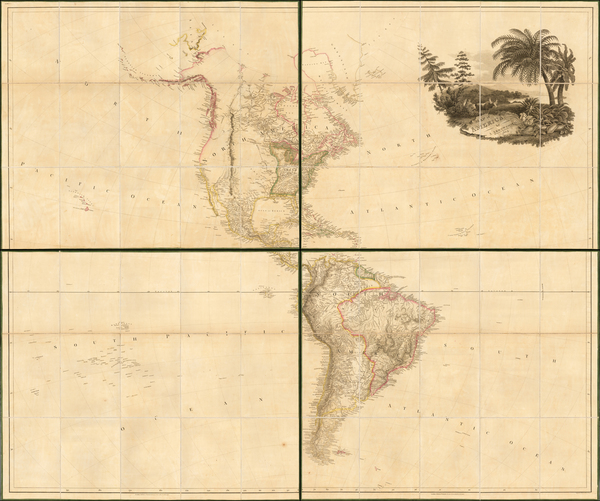 24-South America and America Map By Aaron Arrowsmith