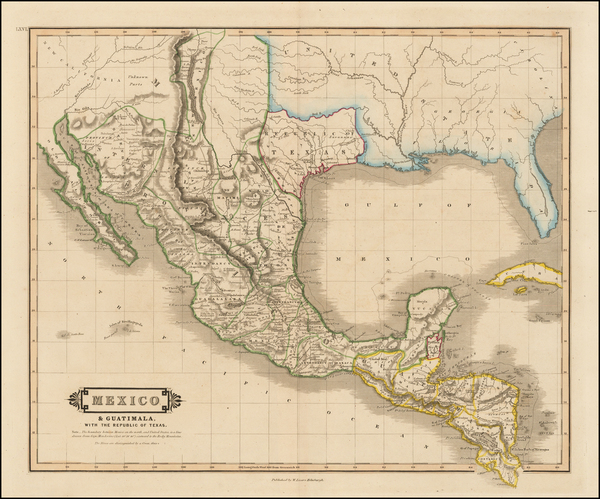 89-Texas, Plains, Southwest, Rocky Mountains and Mexico Map By William Home Lizars