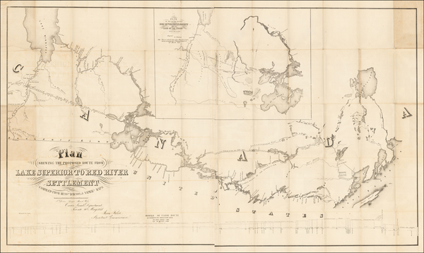 60-Midwest, Minnesota and Canada Map By Henry Y. Hind