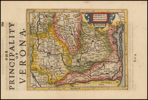 82-Italy and Northern Italy Map By Henricus Hondius - Gerhard Mercator