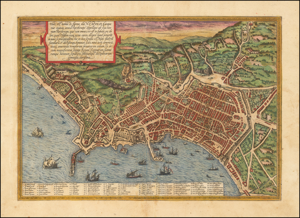 77-Other Italian Cities Map By Georg Braun  &  Frans Hogenberg