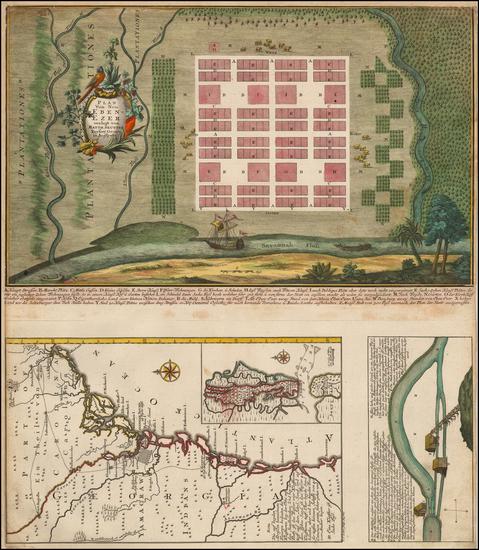 88-Southeast and Georgia Map By Matthaus Seutter