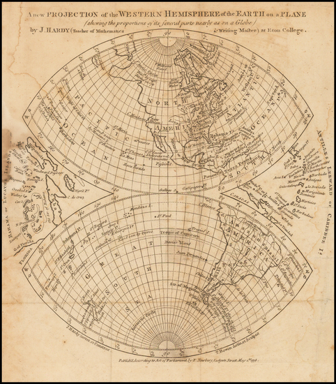 91-Western Hemisphere, South America and America Map By Gentleman's Magazine