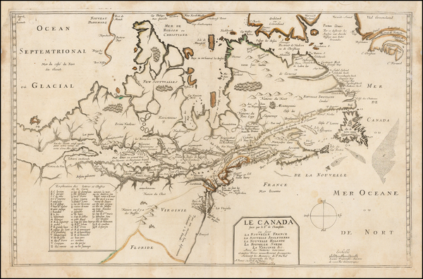 100-New England, Mid-Atlantic, Midwest and Canada Map By Pierre Du Val
