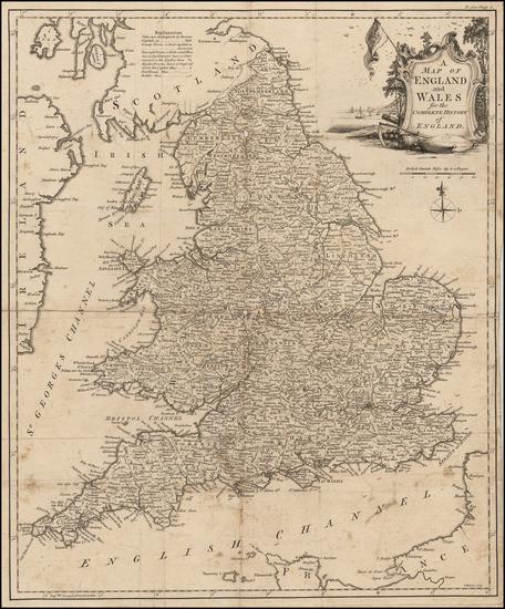England Map By Thomas Kitchin