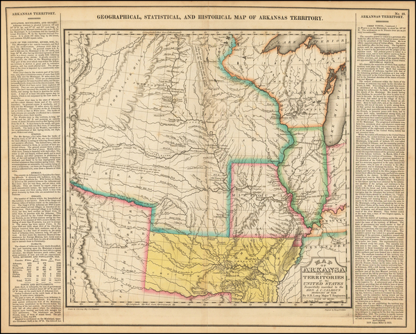 100-Arkansas, Texas, Midwest, Plains, Missouri, Southwest and Rocky Mountains Map By Henry Charles