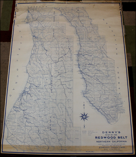 1-California Map By Edward Denny & Co.