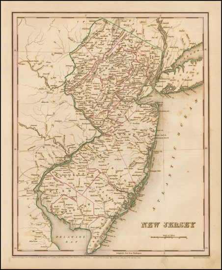 Mid-Atlantic and New Jersey Map By Thomas Gamaliel Bradford