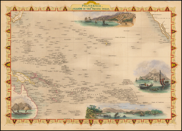 53-Pacific, Oceania, Hawaii and Other Pacific Islands Map By John Tallis
