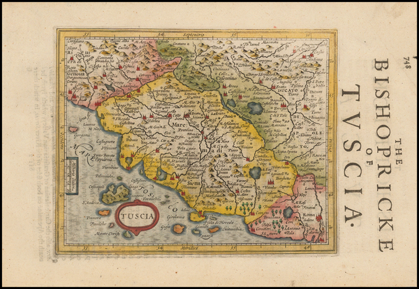 39-Italy and Northern Italy Map By Jodocus Hondius