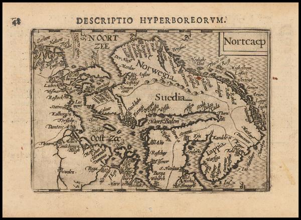 70-Scandinavia Map By Petrus Bertius