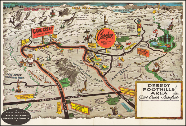 16-Arizona and Pictorial Maps Map By Don Barclay  &  Bill Warner