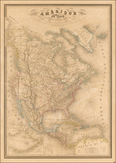 17-North America Map By Adolphe Hippolyte Dufour