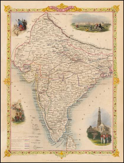 75-India Map By John Tallis