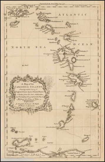 15-Caribbean and Other Islands Map By Gentleman's Magazine