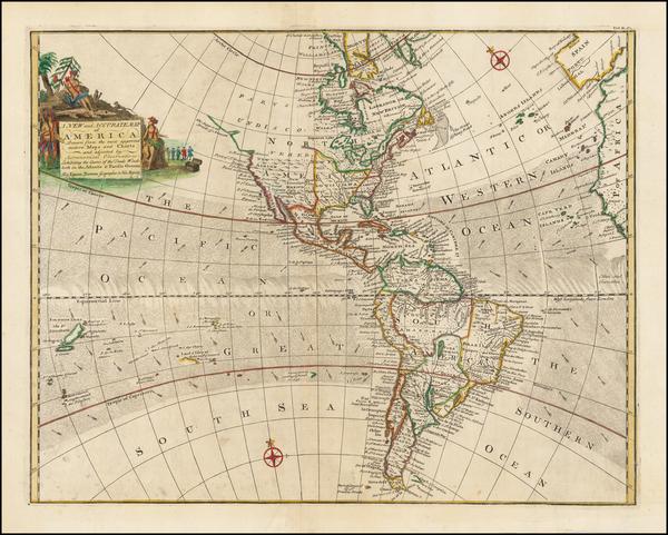 78-America Map By Emanuel Bowen