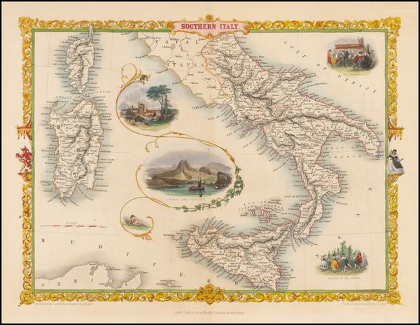70-Italy Map By John Tallis