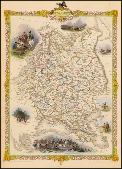 43-Russia and Ukraine Map By John Tallis
