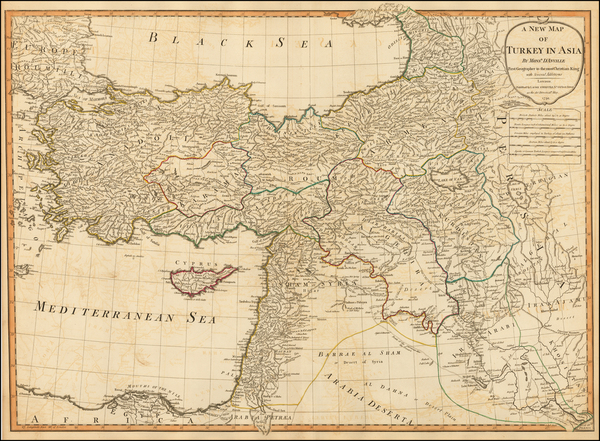 86-Middle East, Holy Land and Turkey & Asia Minor Map By Laurie & Whittle