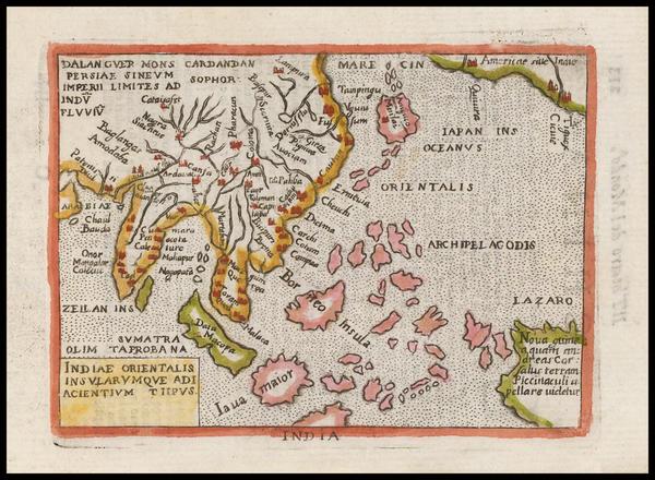 33-Alaska, China, Japan, Southeast Asia and Australia Map By Abraham Ortelius