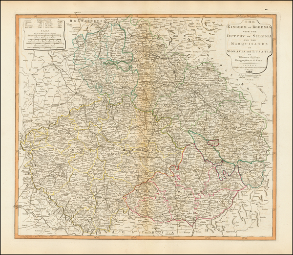 Poland and Czech Republic & Slovakia Map By James Whittle  &  Robert Laurie