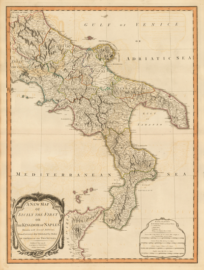 23-Italy and Southern Italy Map By Laurie & Whittle