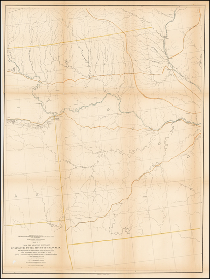57-Plains and Missouri Map By U.S. Pacific RR Surveys