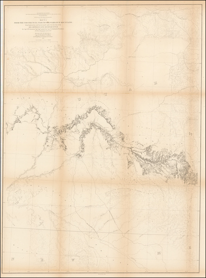 New Mexico, Rocky Mountains and Utah Map By U.S. Pacific RR Survey