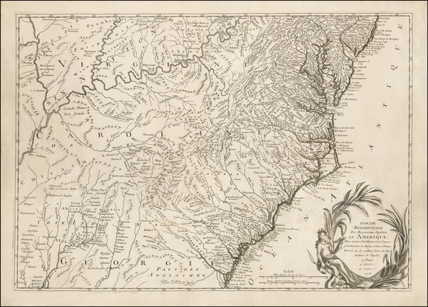 50-Mid-Atlantic, South, Southeast and Midwest Map By Ambrose Verrier  &  Francoise Perrier