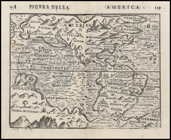 29-Western Hemisphere, South America and America Map By Giuseppe Rosaccio