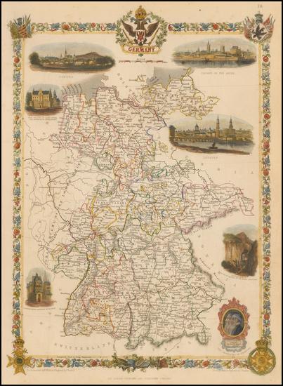 13-Germany Map By John Tallis
