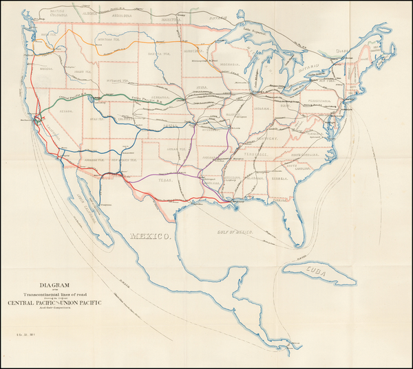 74-United States Map By United States Pacific Railway Commission